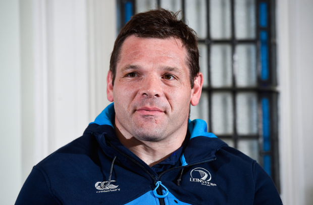 Mike Ross of Leinster during a press conference at the RDS Arena in Ballsbridge, Dublin. Photo: Matt Browne/Sportsfile