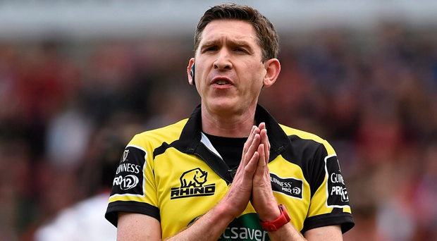 George Clancy will officiate at the Champions Cup final for the fifth time in a row. Photo: Sportsfile