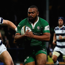 Danny Hobbs-Awoyemi of London Irish during the Championship final first leg against Leeds Carnegie. Photo: Getty