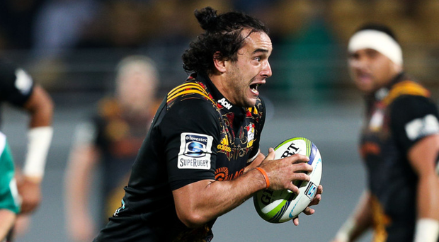 James Lowe, in action for the Chiefs, will soon be a familiar figure at the RDS. Photo: Getty