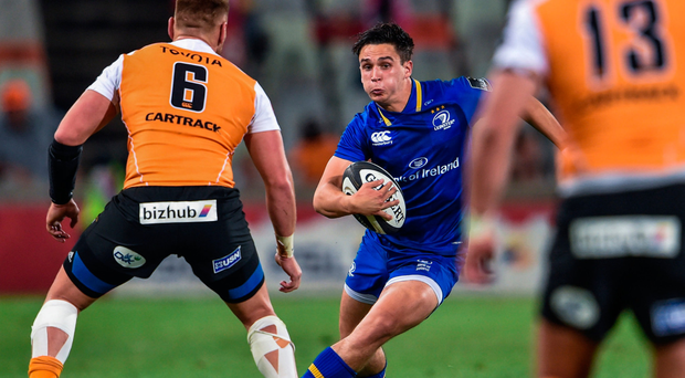 Joey Carbery in action against Paul Schoeman of the Cheetahs in South Africa. Photo: Johan Pretorius/Sportsfile
