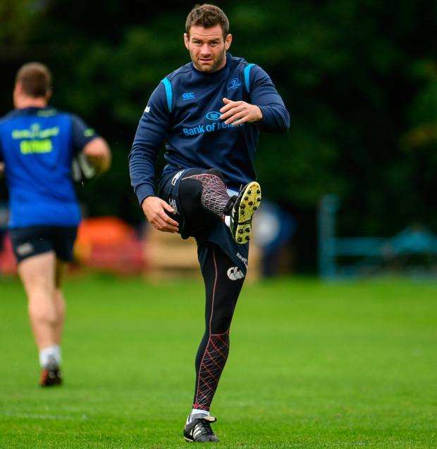 Fergus McFadden, pictured here going through his kicking routine. Photo: Sportsfile
