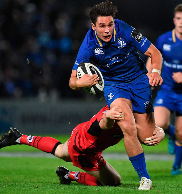 Joey Carbery is better suited to playing with space in-front of him. Photo: Sportsfile