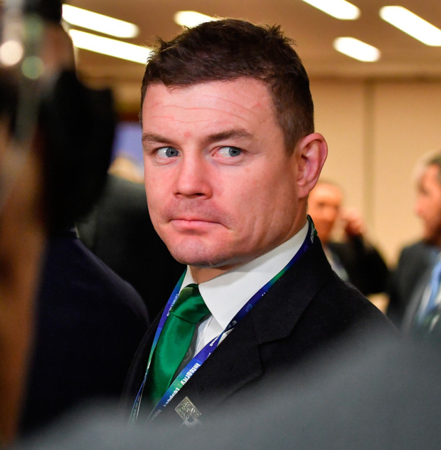 Bid ambassador Brian O'Driscoll leaves the room after the Rugby World Cup 2023 host union announcement Photo: Brendan Moran/Sportsfile