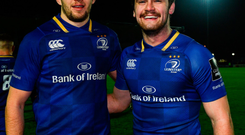 Leinster's Josh Murphy (left) and Conor O'Brien. Photo: Sportsfile
