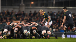 Greg Feek, below, is keen to point out that in every province now there is a network of scrum coaches steaming ahead.
