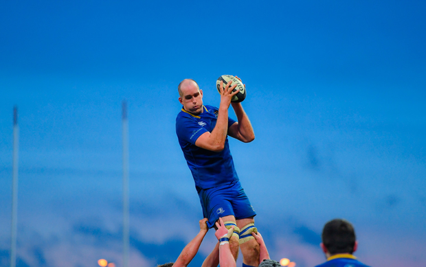 Devin Toner wins a lineout for Leinster. Photo: SPORTSFILE