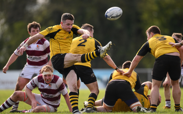 Stephen Deevy in action during last year's Towns Cup semi-final, a tournament they won in 2014. Photo: Sportsfile