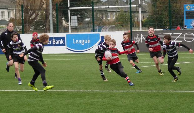Terenure and Arklow's U-12s in action