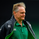 'The Welsh decision to commit precious few to the breakdown saw Joe Schmidt (p) employ the inside route via consistent reverse passing (allied to the occasional Conor Murray kick special) as the prime ground-breaking gambit.' Photo: Sportsfile