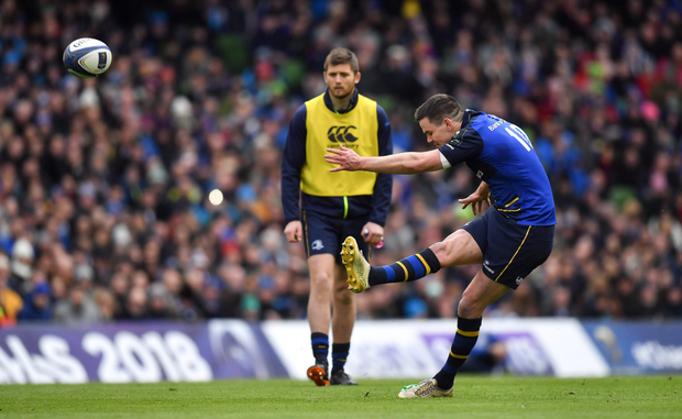 Saracens did their best to put Johnny Sexton off his game but he simply laughed off their efforts and took care of business as usual. Photo: Sportsfile
