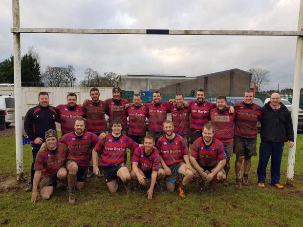 The Athboy senior side after victory over Ardee last January