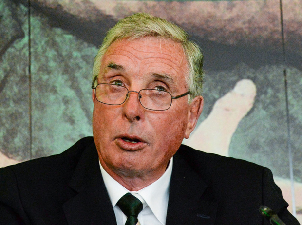 Ex-IRFU president Louis Magee is a Bective man. Photo: Sportsfile