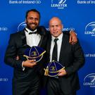 Isa with Richardt Strauss at the Leinster Rugby Awards Ball. Photo: SPORTSFILE