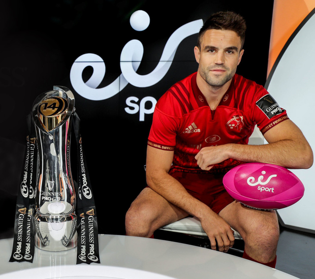 Conor Murray is calling on his Munster team-mates to be ready from the start against Edinburgh in tomorrow's Guinness PRO14 semi-final qualifier. Photo: INPHO