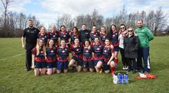The Dublin club's women's team line out before a game earlier in the season