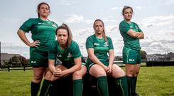Connacht's Ciara O'Connor, Nichola Fryday, Nicole Fowley and Mary Healy. Photo: INPHO/James Crombie