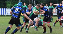 Noel Reilly in action for Emerald Warriors
