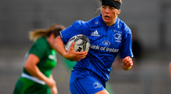 Jeamie Deacon runs through to score her side's sixth try against Connacht. Picture: Sportsfile