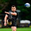 Cian Healy goes through his kicking routine. Picture: Ramsey Cardy/Sportsfile