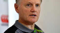 Joe Schmidt appears to be on his last lap. Photo: Sportsfile
