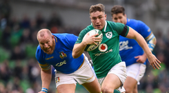 Jordan Larmour is expected to feature in Ireland's opening November Test against Italy in Chicago next Saturday. Photo: Sportsfile
