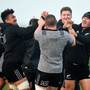 New Zealand players share a joke during training ahead of Saturday's showdown against Ireland. Photo: Sportsfile
