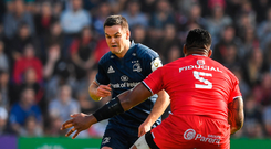 Johnny Sexton in action against Toulouse. Photo: Brendan Moran/Sportsfile
