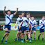 St Andrew's players celebrate their Fr Godfrey Cup win over St Ciarán's Kells. Photo: David Fitzgerald/Sportsfile