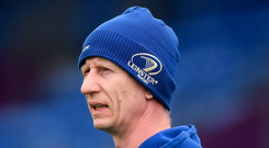Leo Cullen looking on during training at Energia Park. Photo: Sportsfile