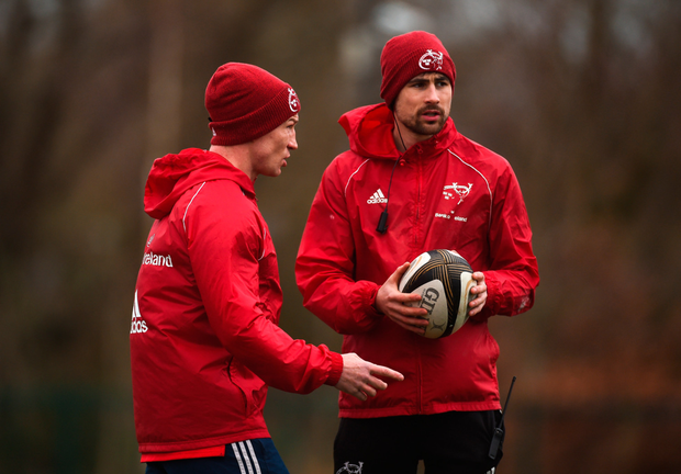 Departing Munster forwards coach Jerry Flannery and backline and attack coach Felix Jones. Photo: Sportsfile