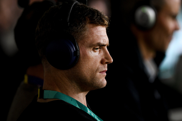 TV analyst and Former Ireland rugby player Jamie Heaslip. Photo: Ramsey Cardy/Sportsfile