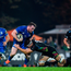 Peter Dooley is tackled by Zebre's Giovanni Licata