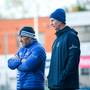 New scrum coach Robin McBryde, with Leo Cullen, joined the squad this week. Photo by Ramsey Cardy/Sportsfile