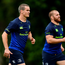 Jonathan Sexton, left, and Sean O'Brien of Leinster during squad training at UCD