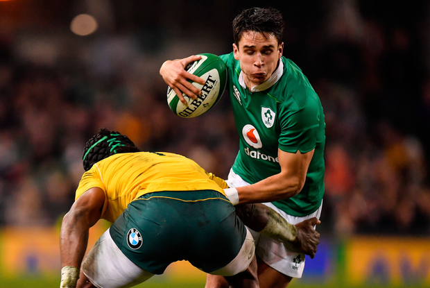 Joey Carbery in action for Ireland against Australia last weekend. SPORTSFILE