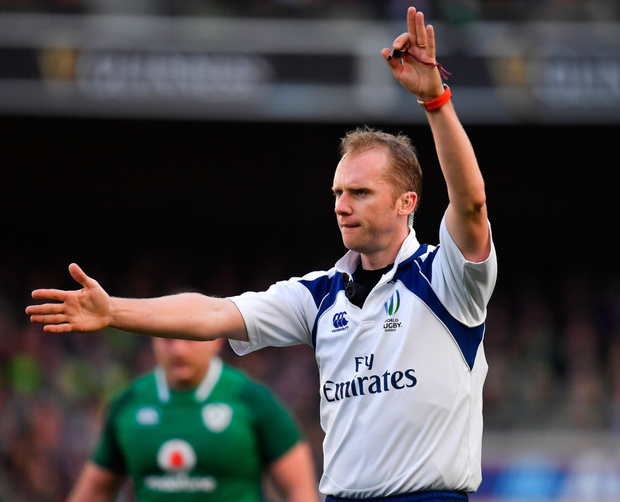 'Wayne Barnes has his quirks but he is an excellent official who doesn't get intimidated.' Photo: Sportsfile