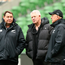 Steve Hansen, Steve Tew and Gilbert Enoka at yesterday's New Zealand Captain's Run in Dublin. Photo: Getty