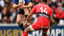 Luke Fitzgerald in action against Toulon