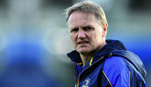 11 May 2013; Leinster head coach Joe Schmidt ahead of the game. Celtic League Play-off, Leinster v Glasgow Warriors, RDS, Ballsbridge, Dublin. Picture credit: Stephen McCarthy / SPORTSFILE