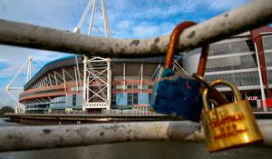 The Principality Stadium was closed for business following the postponement of the Six Nations clash between Wales and Scotland. Photo: Geoff Caddick