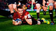 Pointing the way: Rory Scanell, here scoring a try against Castres, feels the Munster attack has found its mojo at the right time. Photo: Sportsfile