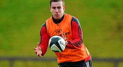 JJ Hanrahan will start in midfield for Munster for the inter-provincial derby clash against Connacht.