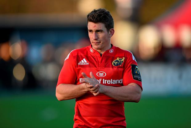 Ian Keatley shows his disappointment after Munster's heavy defeat at Saracens