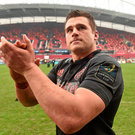 CJ Stander acknowledges supporters after victory over Stade Francais. Photo: Diarmuid Greene