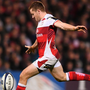 Paddy Jackson kicks the drop goal that gave Ulster a narrow victory over Exeter last night