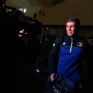 Luke McGrath arrives ahead of Leinster's Pro12 clash with Newport Gwent Dragons. Photo: Sportsfile