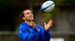 James Lowe during Leinster Rugby squad training. Photo: Sportsfile