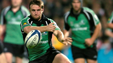 Conor McPhillips, pictured in action for Connacht in 2005, credits his athletics background for helping his rugby career
