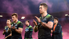 Matt Healy and his team-mates applaud fans after their disappointing Champions Cup defeat to Toulouse Picture: Sportsfile